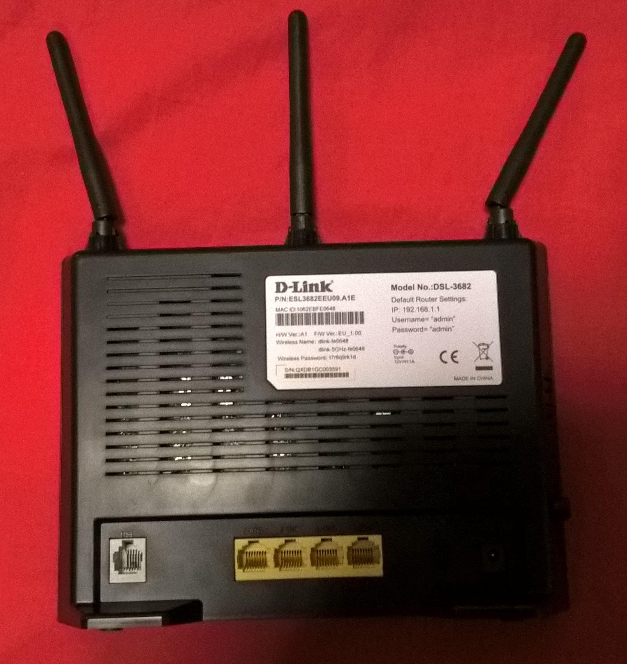 retro del router