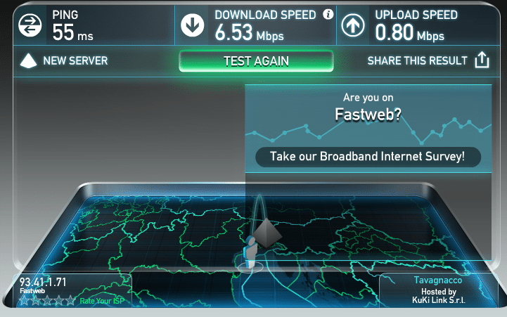 speedtest PC ethernet