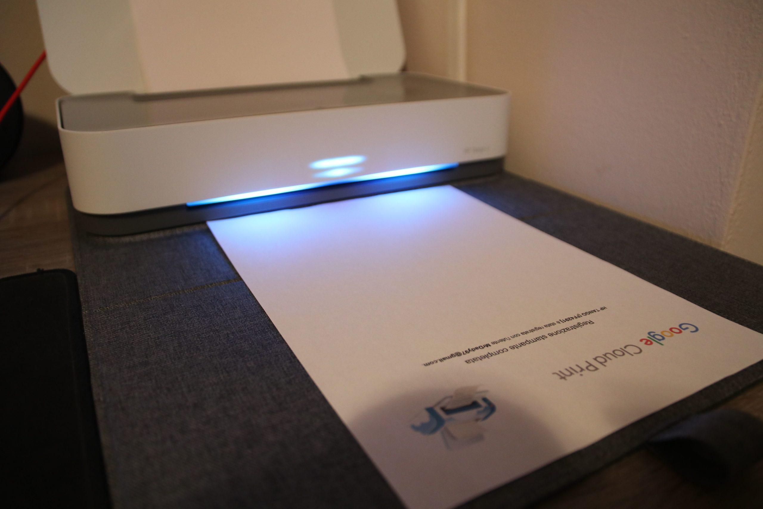 HP Tango X stampa un foglio