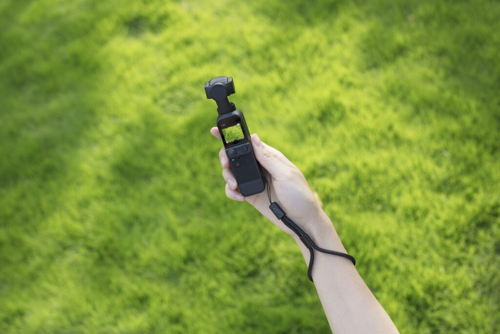 Test della mini telecamera su un prato