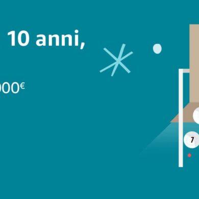 Banner di Amazon per i 10 anni