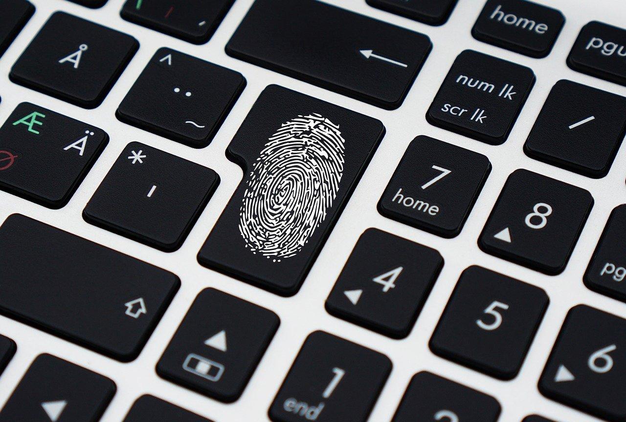 Impronta su una tastiera