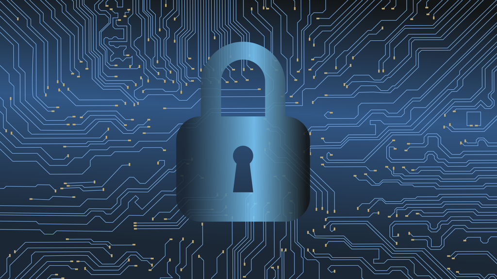 Lucchetto per identificare il rischio di una password non sicura