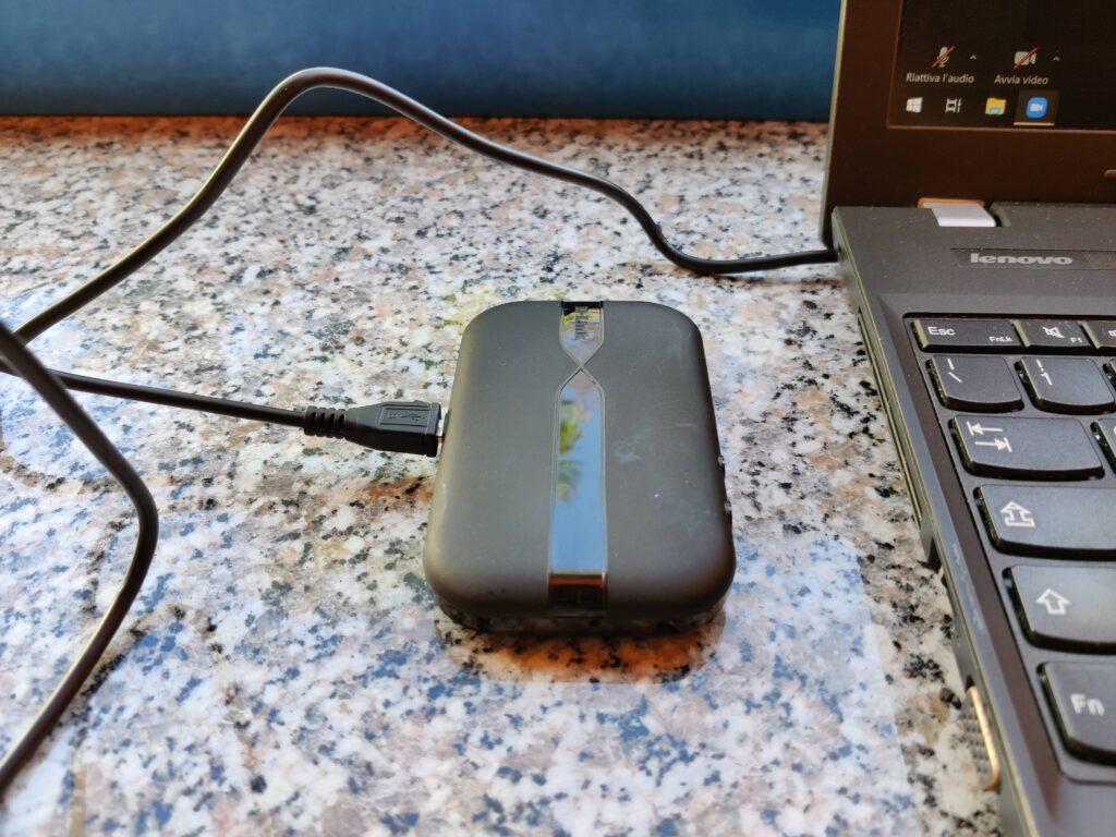 DWR‑932 di D-Link collegato ad una porta USB