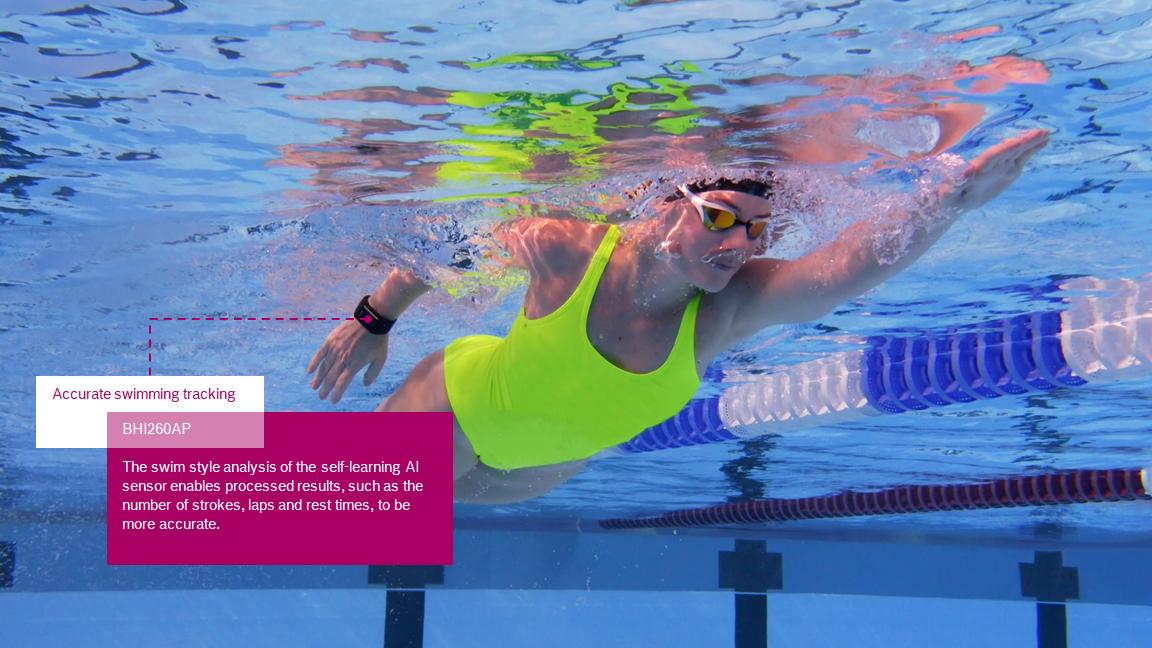 Il sensore riconosce quattro diversi stili di nuoto