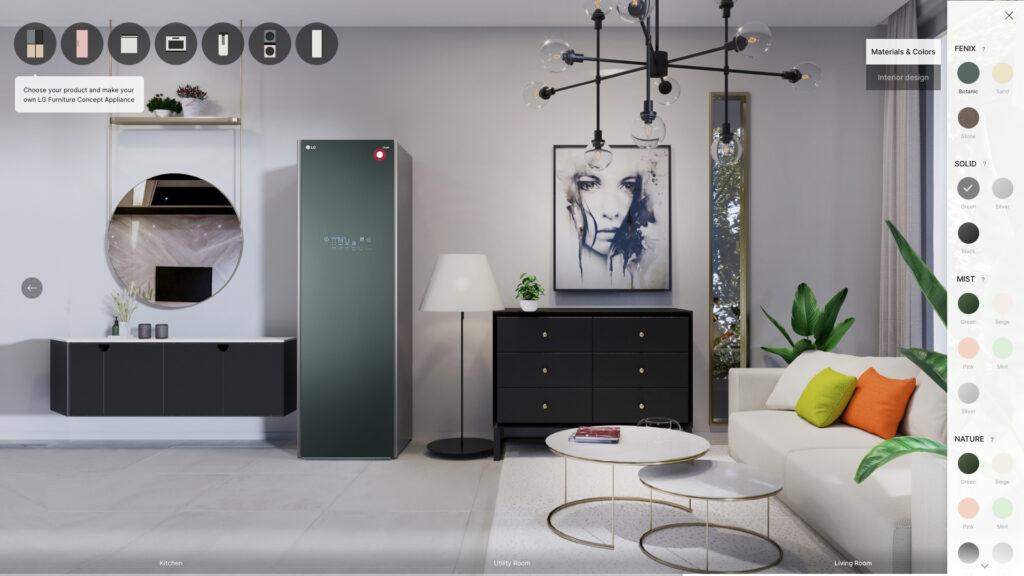 Visione dimostrativa di Furniture Concept Appliances 2021 di LG