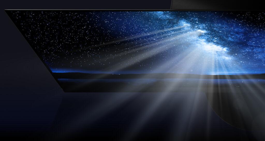 Il suggestivo pannello OLED del TV