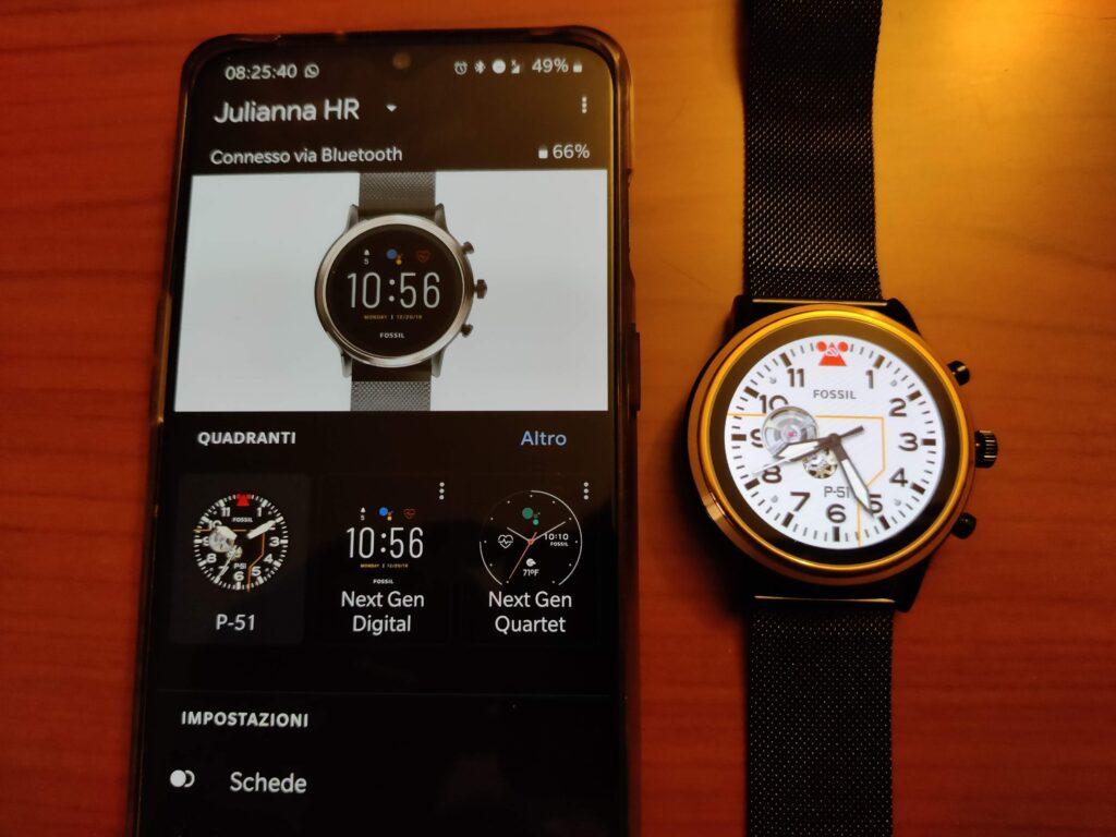 Collegamento dello smartwatch Fossil a smartphone