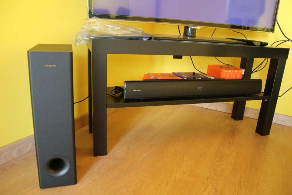Accoppiata subwoofer e soundbar Creative