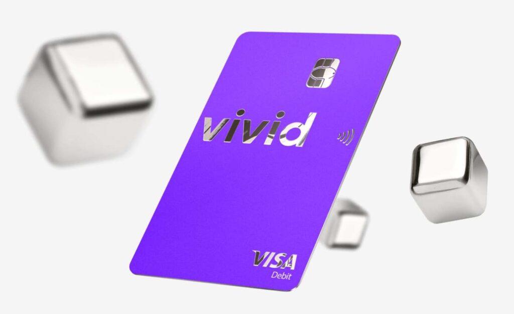 Una foto della carta Vivid Money