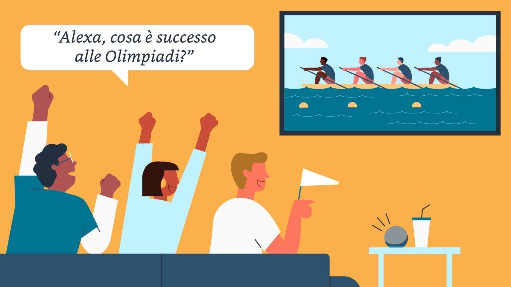 Un esempio di domanda per Alexa alle Giochi Olimpici Tokyo 2020