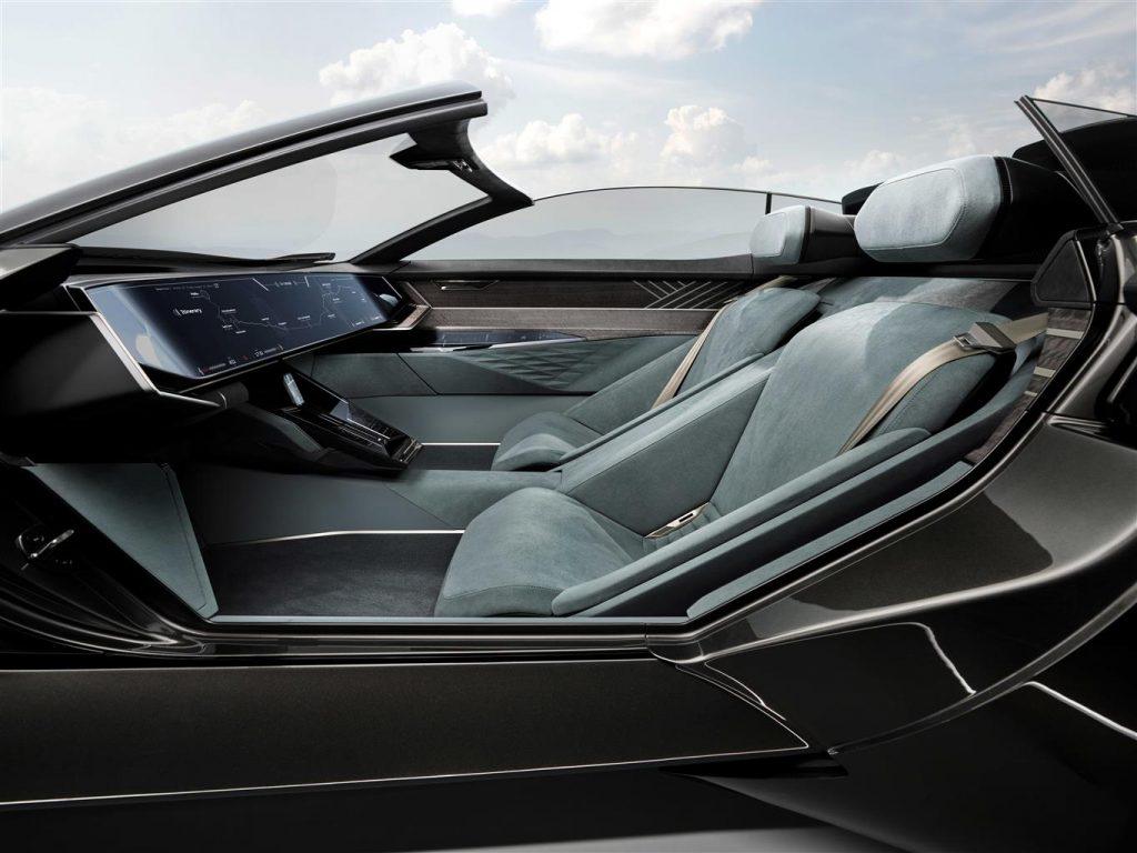 Alcuni dettagli degli interni Audi skysphere concept