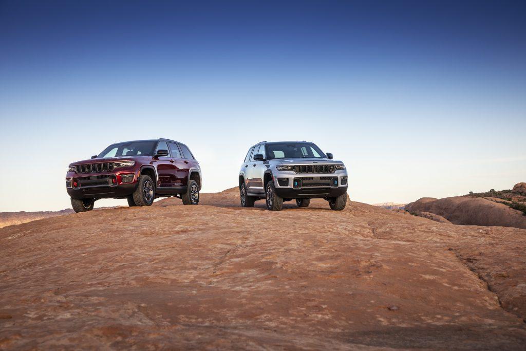 Una foto dei modelli di Jeep Grand Cherokee 2022