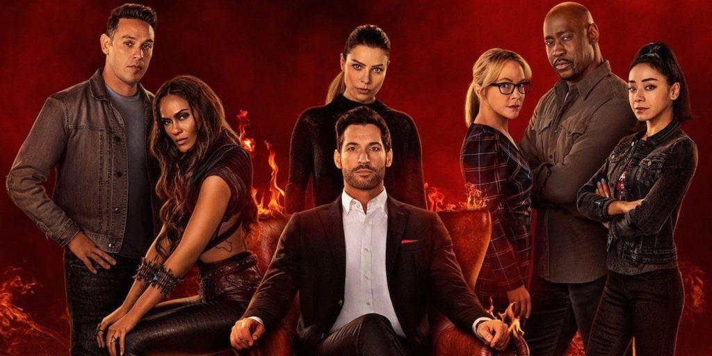Il cast con gli attori di Lucifer 6