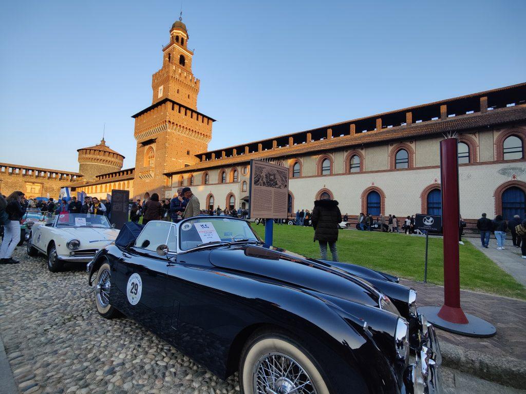 La suggestiva location dell'arrivo del Trofeo Milano 2021
